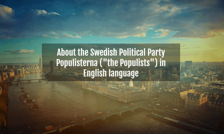 POPULISTERNA IN ENGLISH